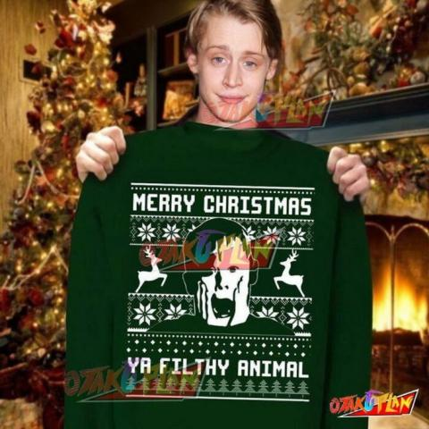 Merry Christmas New Year Winter Ya Filthy Animal Home Alone 3D Print Ugly Christmas Sweatshirt