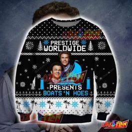 Step Brothers Knitting Pattern 3D Print Ugly Christmas Sweatshirt