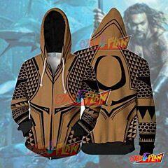 Aquaman Movie Arthur Tattoo Cosplay Jacket Zip Up Hoodie