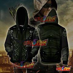 Arrow Oliver Hoodie Cosplay Jacket Zip Up