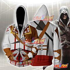 Assassin's Creed II Altair Ibn-La'Ahad Hoodie Cosplay Jacket Zip Up