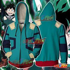 Boku No Hero Academia Izuku Midoriya Hoodie Cosplay Jacket Zip Up