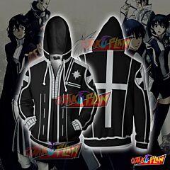 D. Gray Man Black Uniform Zip Up Hoodie
