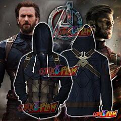 Captain America Hoodie Cosplay Jacket Zip Up