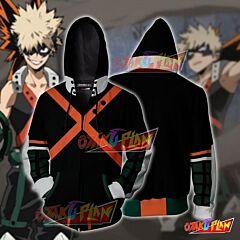 Boku No Hero Academia Katsuki Bakugou Hoodie Cosplay Jacket Zip Up