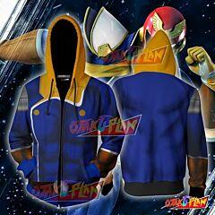 Captain Falcon Hoodie Cosplay Jacket Zip Up