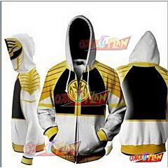 Power Rangers White Zip Up Hoodie Jacket