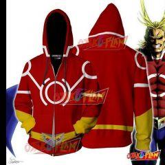 Boku No Hero Academia All Mighty Hoodie Cosplay Jacket Zip Up