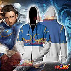 Street Fighter Chun-Li Hoodie Cosplay Jacket Zip Up