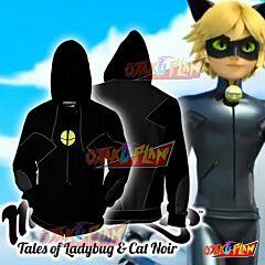 Cat Noir Cosplay Miraculous Tales Of Ladybug & Cat Noir Zip Up Hoodie Jacket
