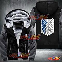 Attack On Titan Scouting Legion Logo Fleece Winter Jacket