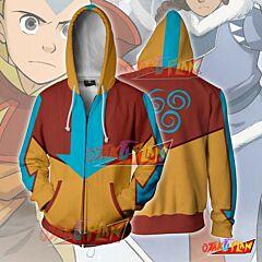 Avatar Last Airbender Aang Zip Up Hoodie