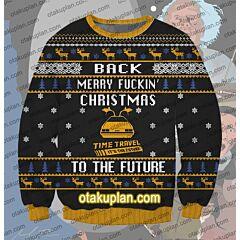 Back To The Future 3D Print Ugly Christmas Sweatshirt