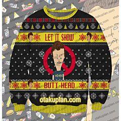Beavis And ButtHead The ButtHead 3D Print Ugly Christmas Sweatshirt