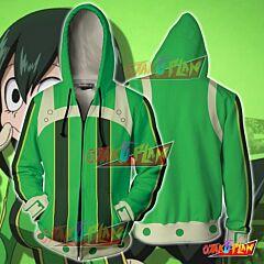 Boku No Hero Academia Tsuyu Asui Hoodie Cosplay Jacket Zip Up