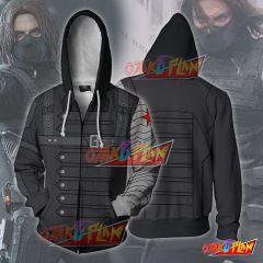 Captain America Hoodie - Bucky Winter Soldier Jacket