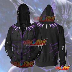 Black Panther Purple Cosplay Hoodie