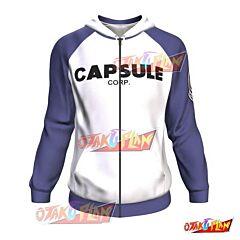Capsule Corp Dragon Ball Zip Up Hoodie