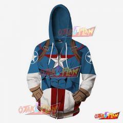 Captain America Battle Cosplay Hoodie