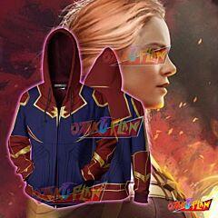 Captain Marvel Hoodie-Carol Danvers Jacket-Zip up hoodie