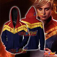 Captain Marvel Jacket-Zip up hoodie
