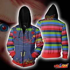 Chucky Child's Play Zip Up Hoodie Jacket
