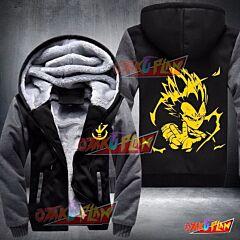 Dbz Dragon Ball Z Super Saiyan Vegeta Fleece Winter Warm Jacket