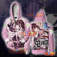 Demon Slayer Kimetsu No Yaiba Kanao Tsuyuri Zip Up Hoodie