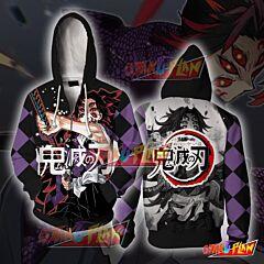 Demon Slayer Kimetsu No Yaiba Kokushibo Tsugikuni Michikatsu Zip Up Hoodie