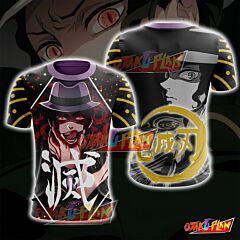 Demon Slayer Kimetsu No Yaiba Muzan Kibutsuji Black T-Shirt