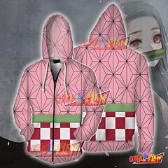 Demon Slayer Kamado Nezuko Cosplay Zip Up Hoodie
