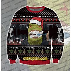 Dorohedoro Kaiman brush teeth 3D Print Ugly Christmas Sweatshirt