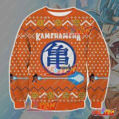 Dragon Ball Kamehameha 3D Print Ugly Christmas Sweatshirt