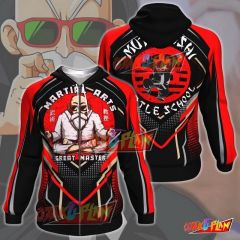 Dragon Ball Master Roshi Martial Arts Zip Up Hoodie P