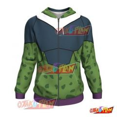 Dragon Ball Perfect Cell Zip Up Hoodie