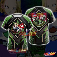 Dragon Ball Android 18 Cosplay T-shirt