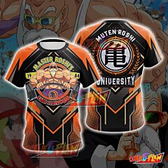 Dragon Ball Master Roshi Orange Cosplay T-shirt
