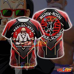Dragon Ball Master Roshi Red Cosplay T-shirt