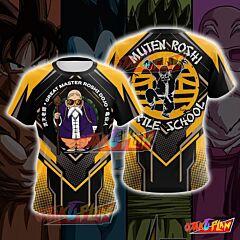 Dragon Ball Master Roshi Yellow Cosplay T-shirt