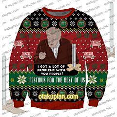Festivus ForThe Rest Of Us 3D Print Ugly Christmas Sweatshirt
