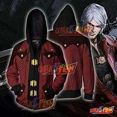 Dante Devil May Cry Hoodie Cosplay Jacket Zip Up