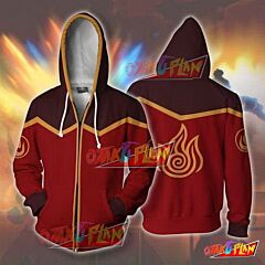 Avatar The Last Airbender Fire Nation Zip Up Hoodie Jacket