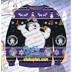 Frosty The Snowman 3D Print Ugly Christmas Sweatshirt
