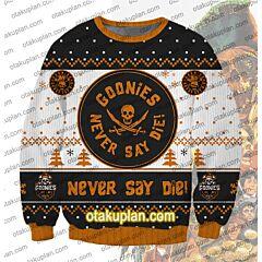 Goonies Never Say Die 3D Print Ugly Christmas Sweatshirt
