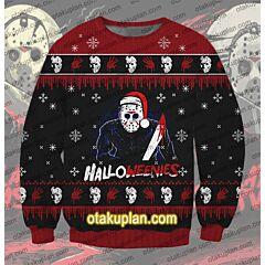 Halloweenies Friday The 13th 3D Print Ugly Christmas Sweatshirt