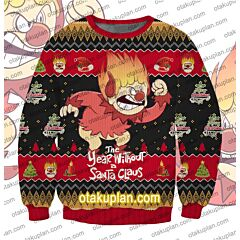 Heat Miser The Year Without A Santa Claus 3D Print Ugly Christmas Sweatshirt