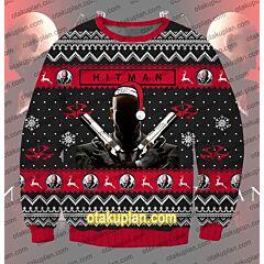 Hitman Contracts 3D Print Ugly Christmas Sweatshirt