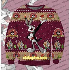 Looney Tunes Christmas Bugs Bunny 3D Print Ugly Christmas Sweatshirt