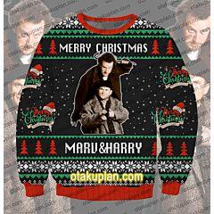 Marv And Harry 3D Print Ugly Christmas Sweatshirt