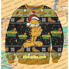 May Your Holidays Be Bright Garfield 3D Print Ugly Christmas Sweatshirt